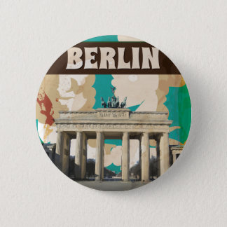 Vintage Berlin Travel Poster 2 Inch Round Button