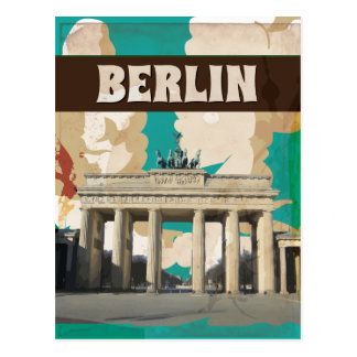 Vintage Berlin Travel Poster print Postcard