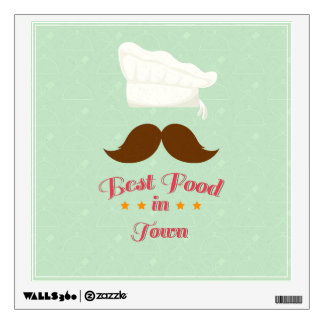 Vintage Best Food In Town Wall Decal