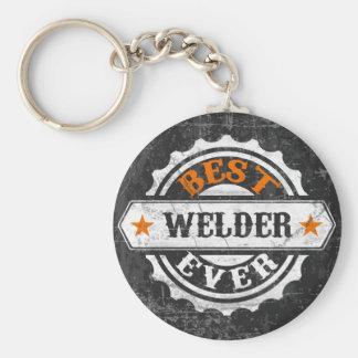 Vintage Best Welder Basic Round Button Keychain