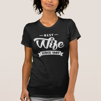 Vintage Best Wife Since 1987 T-Shirt