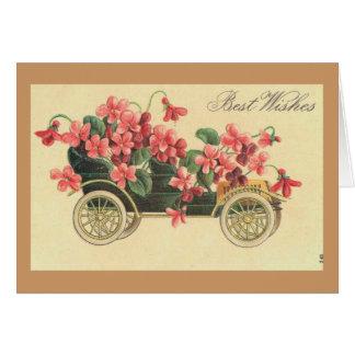 Vintage - Best Wishes Greeting Card