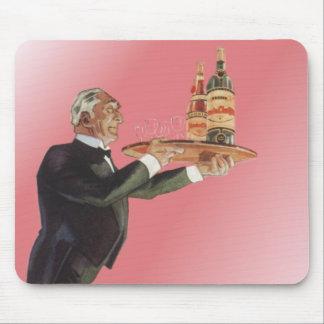 Vintage Beverages, Butler, Drinks, Glasses, Wine Mouse Pad