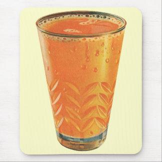 Vintage Beverages, Glass of Orange Juice Breakfast Mouse Pad