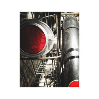 Vintage Bicycle #1 Red Black and White Canvas