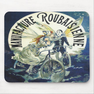 Vintage Bicycle Advertisement - Cycling Mousepad