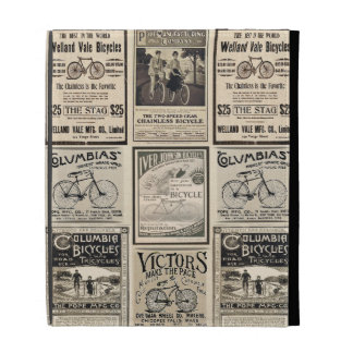 Vintage Bicycle Advertising Collage iPad Cases