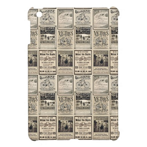 Vintage Bicycle Advertising Collage Case For The iPad Mini