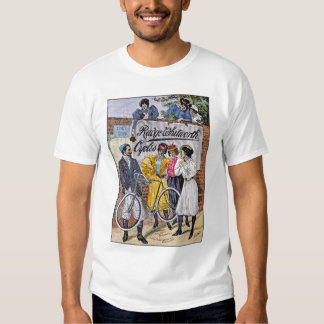 Vintage Bicycle Art Ruge Whitworth Cycles Tee Shirts