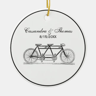 Vintage Bicycle Built For Two / Tandem Bike Ceramic Ornament