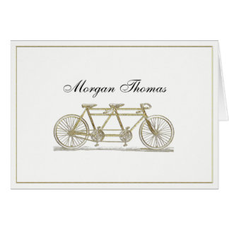 Vintage Bicycle Built For Two / Tandem Bike Gold Card