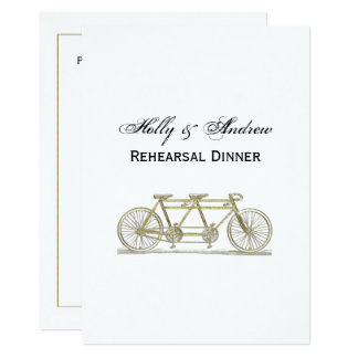 Vintage Bicycle Built For Two / Tandem Bike Gold Card
