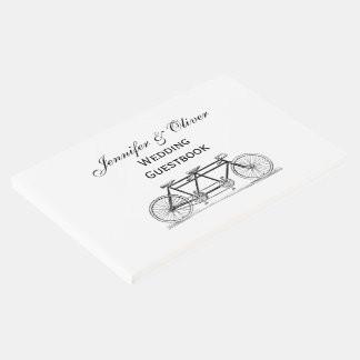 Vintage Bicycle Built For Two / Tandem Bike Guest Book