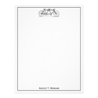 Vintage Bicycle Built For Two / Tandem Bike Letterhead