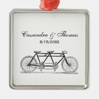 Vintage Bicycle Built For Two / Tandem Bike Metal Ornament