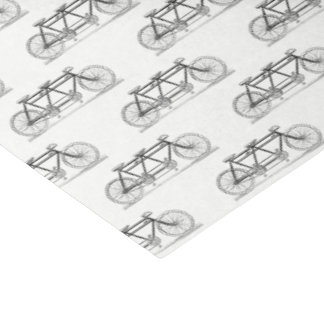 Vintage Bicycle Built For Two / Tandem Bike Tissue Paper