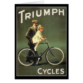 Vintage Bicycle Card :  Triumph Cycles