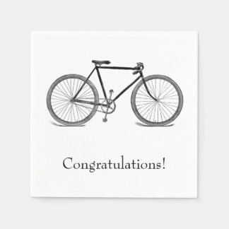 Vintage Bicycle Congratulations Paper Napkin