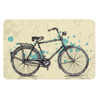 Vintage Bicycle Drawing Magnet