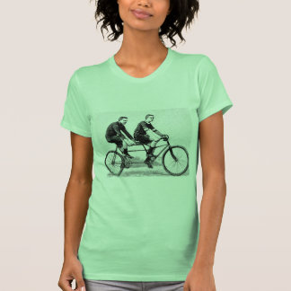 Vintage Bicycle For Two - Cycling Sports Tee Shirts