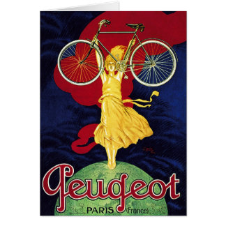 Vintage Bicycle Gifts - Cycles Peugeot Card