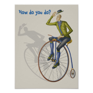 Vintage bicycle, how do you do poster