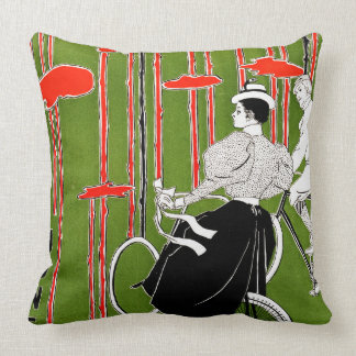 Vintage Bicycle Issue 1896 Throw Pillow