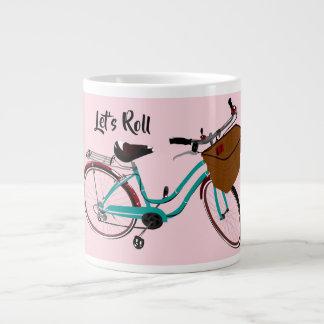 Vintage Bicycle...let's roll. Large Coffee Mug