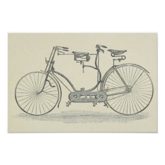 Vintage Bicycle Made For Two Print