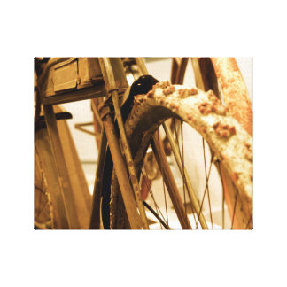 Vintage Bicycle Minimalist Canvas Print