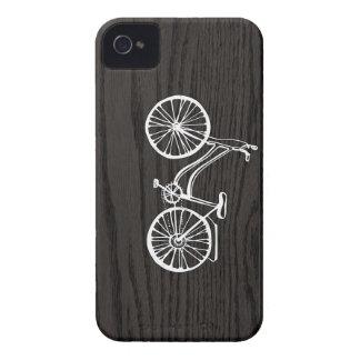 Vintage Bicycle On Woodgrain iPhone 4 Cases