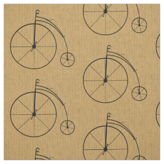 Vintage Bicycle Pattern Fabric