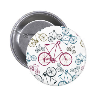 Vintage Bicycle Pattern Gifts for Cyclists 2 Inch Round Button