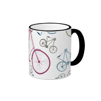Vintage Bicycle Pattern Gifts for Cyclists Mug