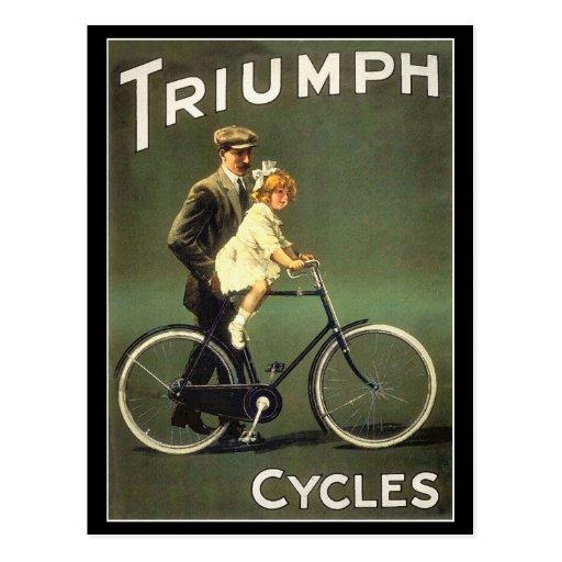Vintage Bicycle Postcard :  Triumph Cycles