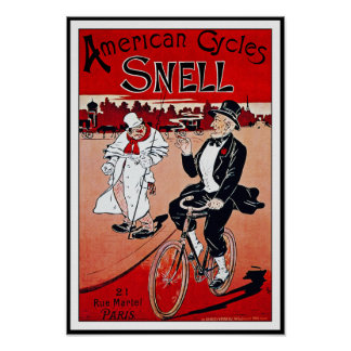 Vintage Bicycle Poster:  American Cycles Snell Poster