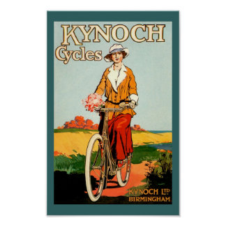 Vintage Bicycle Poster - Kynoch Cycles