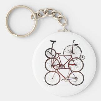 Vintage Bicycle Print Design Keychain