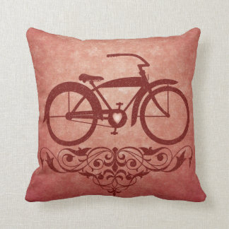Vintage Bicycle Red Pillow