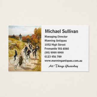 Vintage Bicycle Ride in the Country Business Card