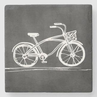 Vintage Bicycle Rustic Chalkboard Stone Coaster