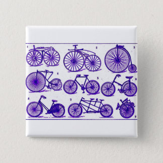 Vintage Bicycles 2 Inch Square Button