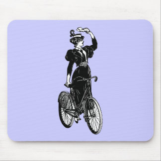 Vintage Bicyclist Mouse Pad
