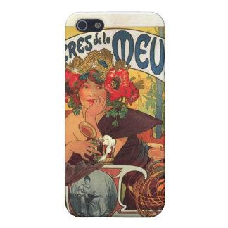 Vintage Bieres de la Meuse by Alphonse Mucha iPhone 5/5S Case