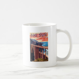 Vintage Big Sur Bixby Bridge USA Tourism Coffee Mug