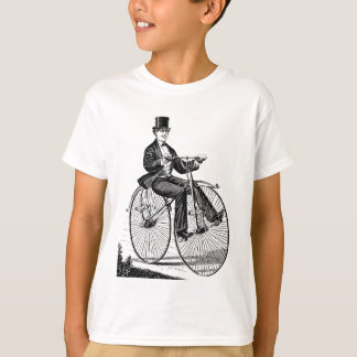 Vintage Big Wheel Bicycle Victorian Cycling T Shirts