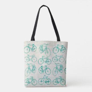 Vintage bike design tote bag
