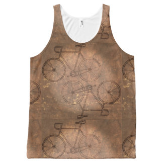 Vintage Bike Distressed All-Over-Print Tank Top