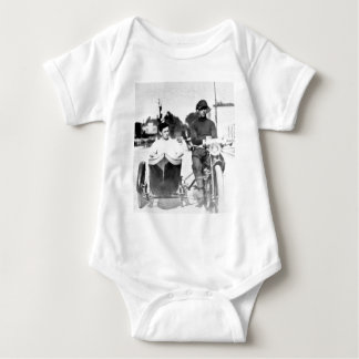 Vintage Biker Outlaw Motorcycle and Sidecar Baby Bodysuit