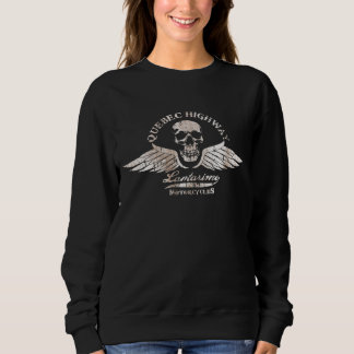 Vintage Biker Skull and Wings Emblem Sweatshirt